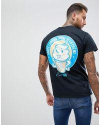 Abuze London - Abuze Ldn Crème Back Print T-shirt - Lyst