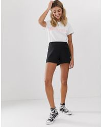 ASOS - Easy Casual Short With Exposed Zip - Lyst