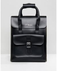 Dr. Martens - Black Leather Backpack - Lyst