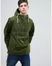 Mango - Man Hooded Pouch Pocket Jacket In Khaki - Lyst