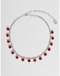 Krystal London - Swarovski Crystals Hanging Drop Necklace - Lyst