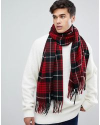 Jack & Jones - Checked Scarf - Lyst