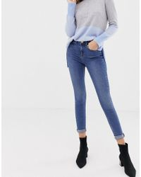 Oasis - Mid-rise Skinny Jeans In Mid Wash - Lyst
