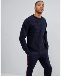 Bellfield - Jumper With Mixed Textures - Lyst