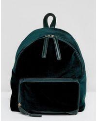 Glamorous | Glamorus Emerald Velvet Backpack | Lyst