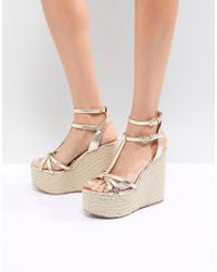 Miss Kg - Rope Super Stacked Wedge - Lyst