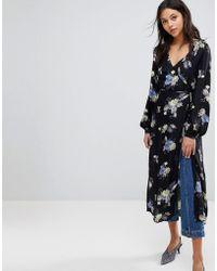 Gestuz - Flower Print Wrap Open Kimono - Lyst