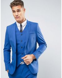 ASOS - Wedding Skinny Suit Jacket In Dusky Blue - Lyst