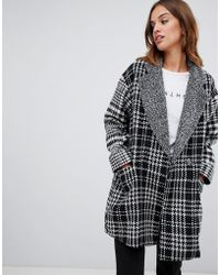 French Connection - Edge To Edge Checked Coat - Lyst