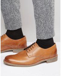 Lambretta - Derby Shoes In Tan Leather - Lyst