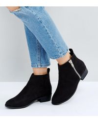 Truffle Collection - Wide Fit Side Zip Low Boot - Lyst