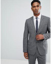 Reiss - Slim Suit Jacket In Salt N Pepper - Lyst