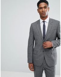 Reiss - Slim Suit Jacket In Salt N Pepper - Lyst