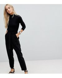 ASOS - Asos Design Petite Woven Peg Pants With Obi Tie - Lyst