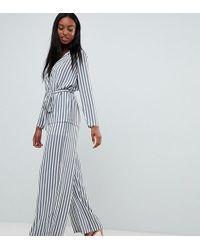 Missguided - Striped Wide Leg Trousers - Lyst