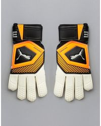 PUMA - Football Goal Keeping Gloves In Orange 041475-01 - Lyst