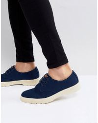 Dr. Martens - Delray Overdyed 3-eye Shoes In Navy - Lyst