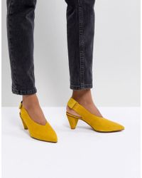 Hudson Jeans - London Dorothea Yellow Suede Sling Back Shoes - Lyst