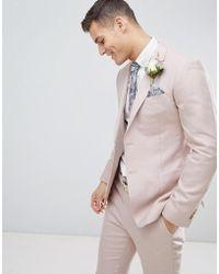 Reiss - Slim Suit Jacket In Light Pink - Lyst