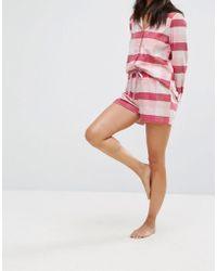 Vero Moda - Flannel Check Pajama Short - Lyst