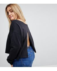 ASOS - Off Shoulder Boxy Sweatshirt - Lyst