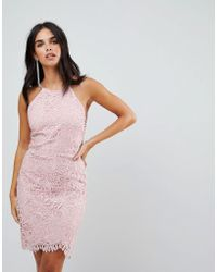 Adelyn Rae - Louise Fishtail Sheath Lace Dress - Lyst