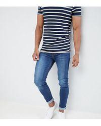 Noak - Skinny Jeans In Dark Blue Wash - Lyst