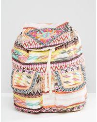 Glamorous - Tapestry Detail Backpack - Lyst