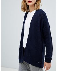 Esprit - Oversized Cable Knit Cardigan - Lyst