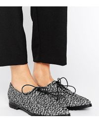 The March - Lace Up Point Flat Shoes - Lyst