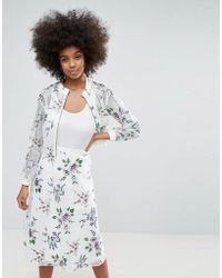 Darling - Floral Embroidered Mesh Lightweight Jacket - Lyst