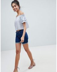 Oasis - Turn Up Denim Shorts - Lyst