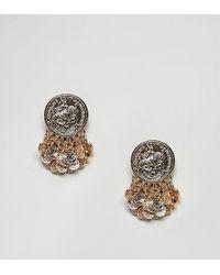 ASOS - Design Coin Shower Earrings - Lyst