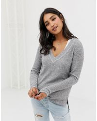 Abercrombie & Fitch - Drapey Cozy Top - Lyst