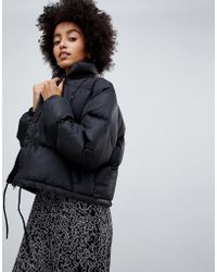 729f4d0af4d88 Dr. Denim - Cropped Padded Jacket With Internal Straps - Lyst · Urban Bliss  - Indiana Faux ...