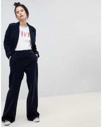 Pull&Bear - Cord Flares In Navy - Lyst