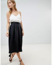 91973b850 ASOS Scuba Prom Skirt With Paperbag Waist in Black - Lyst