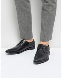 Frank Wright - Derby Shoes In Black Leather - Lyst