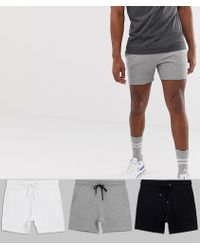 ASOS - Jersey Skinny Shorts 3 Pack - Lyst