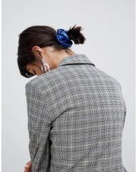 ASOS - Design Scrunchie In Pu In Blue - Lyst
