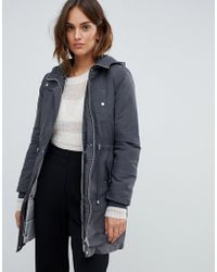 Oasis - Two In One Parka In Grey - Lyst