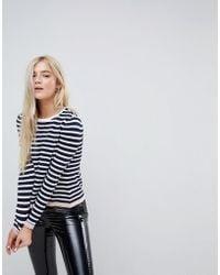 ONLY - Stripe Knit With Contrast Hem - Lyst
