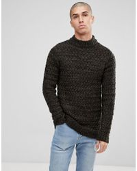 Only & Sons - Knitted Jumper With High Neck - Lyst