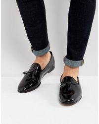 Frank Wright - Tassel Loafers In Black Patent - Lyst