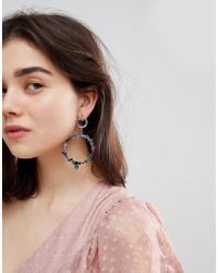 ALDO - Jewelled Hoop Earrings - Lyst