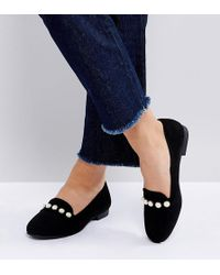 New Look - Pearl Detail Loafer - Lyst