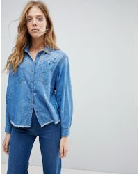 Pepe Jeans - Painted Denim Shirt - Lyst