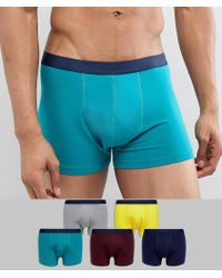 ASOS - Design Trunks In Retro Colours 5 Pack Save - Lyst