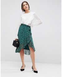 Y.A.S - Ditsy Frill Skirt - Lyst