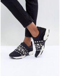 Carvela Kurt Geiger - Luck Studded Sneakers - Lyst